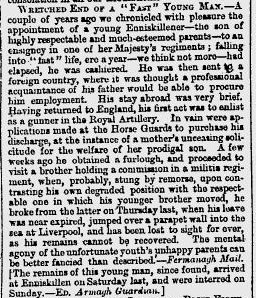 The Glasgow Herald March 22 1860 fermanagh